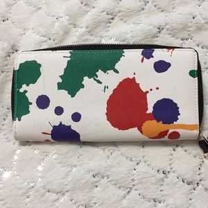 SHIRALEAH Splash Multi-Color pattern wallet.